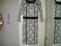 Two size 8 ladies dresses & 1 evening top