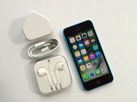 Apple iPhone 5c 32GB, Blue, Unlocked, +WARRANTY, NO OFFERS