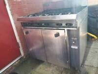 Commercial Blue Seal LPG 6 burner oven
