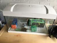 White fish tank and accessories