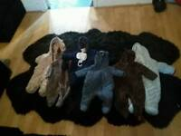Bundle ov thick padded baby winter onezies 3 to 6 month excellent condition