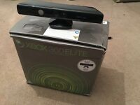 Xbox 360 Elite Black 120GB with Kinect (has 3 red ring RROD)
