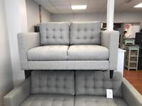 New 3&2 seater sofa in grey fabric only £599!