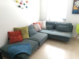 Ikea sofa. In Soho. £300. Really comfortable.