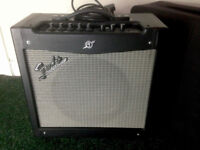 Guitar amp Fender Mustang II 40 W 12 inch speaker with cover. Guitar combo.