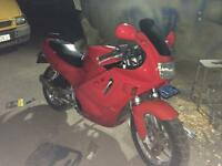 Just after fresh coat red paint CBR 600f