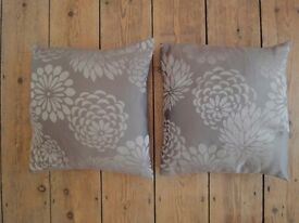 Elegant Floral Patterned Cushions x 2