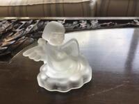 Angel with Harp Crystal Candle Holder ( M J Hummels)