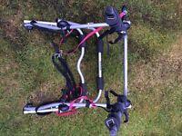 Halfords rear high mount 3 cycle carrier/bike bicycle rack