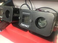 Pair of Abstract Twister 3 retro/vintage DJ Disco lighting effects. Full working order.