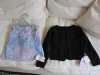 Girls Pretty Skirt and Cardigan
