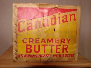 Vintage Extremely Rare Besse Dairy Canadian Creamery Butter Box