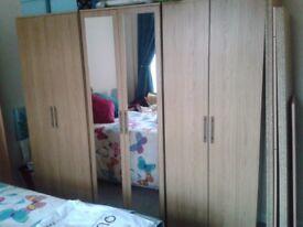 Double door wardrobe x3