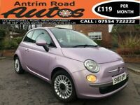 2013 FIAT 500 LOUNGE ** METALLIC PINK ** ONLY 22,000 MILES ** FINANCE AVAILABLE