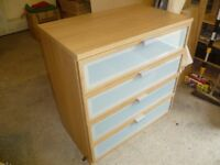 Ikea light oak 4 drawer Chest of drawers