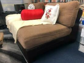 Single seater sofa pure dark brown leather