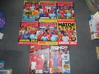 9 Football Annuals / Shoot, Match, Match of the Day