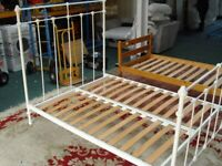 Double Metal Bed Frame (#43163) £65
