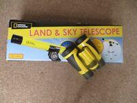 National Geographic kids telescope and binoculars.