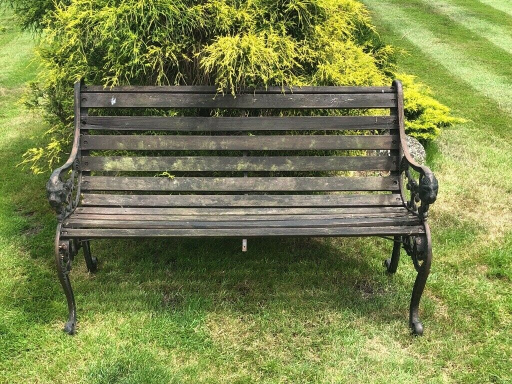 Surprising Garden Bench 4 Ft Decorative Cast Iron Sides In Botley Hampshire Gumtree Machost Co Dining Chair Design Ideas Machostcouk