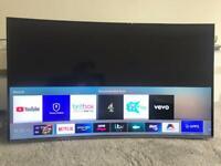 Samsung led smart tv super slim design 49 inch 4K ultra UHD carved