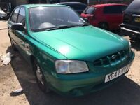 Cheap car of the Hyundai Accent, starts and drives well, MOT until September, car located in Gravese