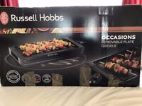 Russell Hobbs Occasions Removable Plate Griddle - Black