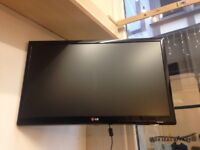 """22"""" LG TV with wall mount"""