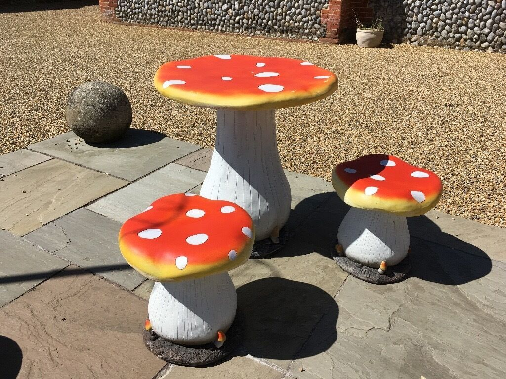 toadstool bistro set garden furniture new in holt norfolk gumtree