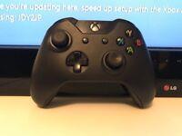 Xbox One black wireless 3.5mm controller - like new