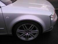 """AUDI 18"""" RS4 ALLOYS WITH GOOD TYRES A3 A4 A5 A5 A6 A7 A8 5X112 PCD VW T4"""