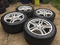 "Genuine Porsche Panamera 19"" Alloy wheels n tyres 5x130"