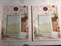 Set of 2 Wooden Frame Wedding Guest Book