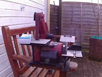 HEAVY DUTY BELT AND DISK SANDER-very good condition