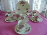 Vintage Floral 21 Piece Tea Set Ideal For Afternoon Teas Weddings etc