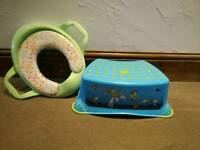 Toilet training step and seat