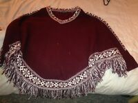 Cardigan and poncho 5£ each