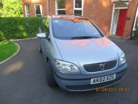 2002 Vauxhall Zafira MPV. Rare English registered clean, reliable economical Diesel 7 seater.