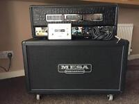 Mesa stiletto deuce head and mesa 2x12 cab with covers