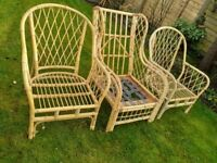 Free conservatory cane furniture (No cushions)