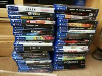 PS4 1tb plus 40 or so games plus ps vita