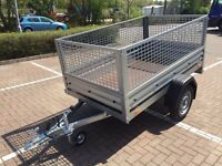 car box trailer brenderup 1205 s + mesh side