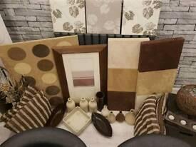 Brown/cream home accessories