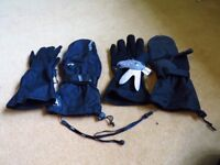 Level Butterfly Glove, Black, with Wrist Protection, Adult Small, Excellent Condition