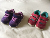 Girls' Nike and Adidas trainers