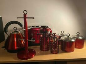 Morphy Richards Red Accents Kitchen Set ( Worth over £175)