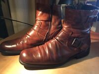 vintage motorcycle style boots