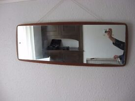 Wall hanging long mirror, 1960's early 1970's.
