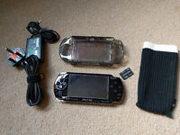 PSP 2000 fat + memory card + case + sock cover + many many games