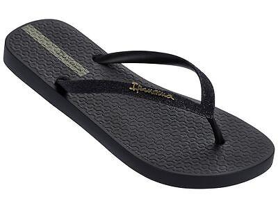 Ipanema Women`s Flip Flops Glitter II Sandal Black Brazilian Sandals NWT](Sandal Ipanema)